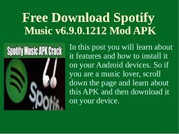 spotify for tablet apk install spotify v6 9 0 1212 mod apk on your android sm