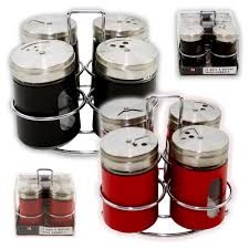 Spice Shaker 4pcs Salt U0026 Pepper Shaker Set Seasoning Spices Holder Dispenser