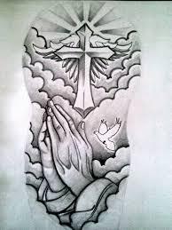 22 cross tattoos on half sleeve