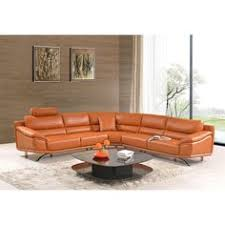 bo3920 modern camel leather sectional sofa burnt orange leather