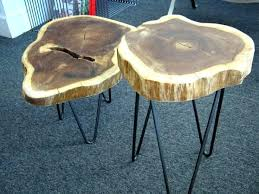 wood slice end table tree trunk slices wood slice table view in gallery trunk slices tree