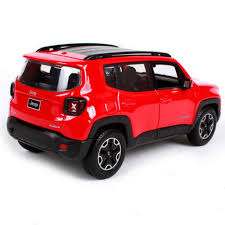 Amazon Com Maisto 1 24 2017 Jeep Renegade Red Diecast Model Car