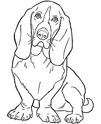 dog color pages printable dog coloring pages printable basset