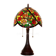 small tiffany style ls rose pattern stained glass shade tiffany style l