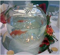 fish bowl centerpieces bowl with floating candles centerpiece photos
