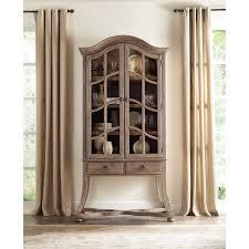 3 door display cabinet hooker furniture 5280 75908 corsica display cabinet in dark wood