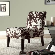 Have A Cow Print Chair For Interior With Sweet Milky Nuance - Printed chairs living room