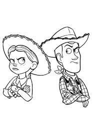 disney coloring pages jessie jessie and woody still mad free coloring page disney kids toy