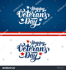 happy veterans day hand lettering handmade stock vector 335580959