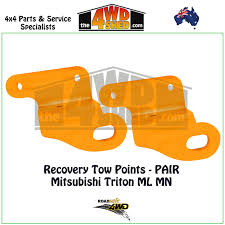 recovery tow points pair mitsubishi triton ml mn