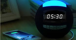 night light alarm clock amazon raynic 8 in 1 bluetooth digital alarm clock w night light