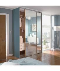 Buy Exterior Doors Online by Buy Oak Mirror Sliding Wardrobe Door Aura Kit 2x24 Inch At Argos