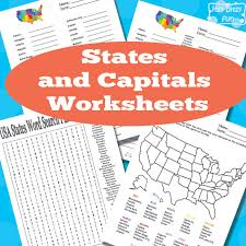 collection of solutions us states and capitals printable