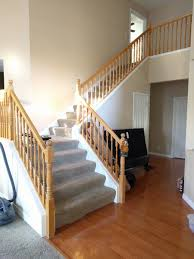 Refinish Banister Restain Oak Staircase Best Method Painting Diy Chatroom Home