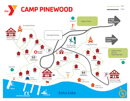 Map Metro Chicago by Ymca Camp Pinewood