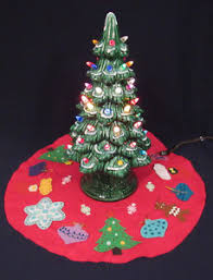 light up christmas skirt vintage 1960s california mold ceramic light up christmas tree with