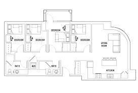 large floor plans floor plans landmark student housing arbor mi