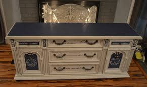 Repurposed Furniture Before And After by Adorable Two Tone Cabinetry Repurposed Furniture With White And
