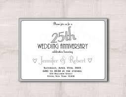 silver anniversary invitation cards paperinvite