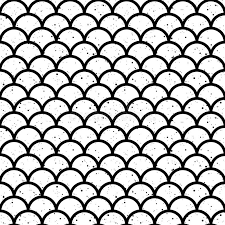 kimono repeat pattern fish scales black and white seamless pattern vector stock vector