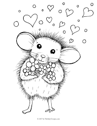 free valentine mouse coloring inky octopus