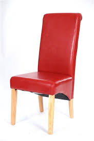 Scroll Back Leather Dining Chairs New Scroll Back Pu Leather Dining Chairs Dining Room Furniture Ebay