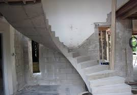 helical concrete stairs and the main consisting elements