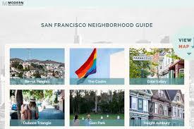 San Francisco Neighborhood Map by San Francisco Neighborhood Guide Real Sf Properties