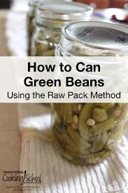 pressure cooking green beans