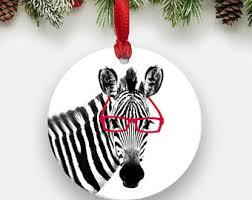 zebra ornament etsy