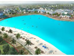 this insanely huge pool is literally right next to the beach