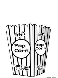 printable popcorn coloring pages