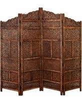 Screen Room Divider Amazing Shopping Savings Benzara Wooden Room Divider Carved With
