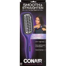 conair brush hair straightener smooth straightening brush
