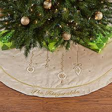 personalized tree skirt white gold christmas tree skirt festival collections