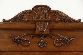 victorian carved oak antique bedroom set full size bed also