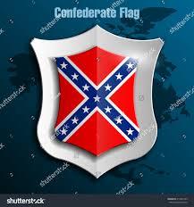 Southern Rebel Flag Design Shield Flag Confederate States America Stock Illustration