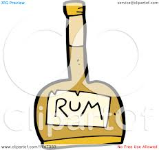 Liquor Clipart Rum Bottle Pencil And In Color Liquor Clipart Rum