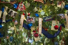 white house tree ornaments lights decoration