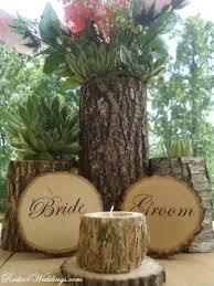 rustic wedding decorations rustic 4 weddings and groom wood slice signs for rustic