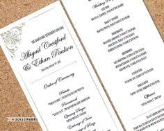 print at home wedding programs wedding program copperplate monogram diy editable word