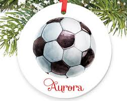 soccer player ornament soccer ornament personalized soccer