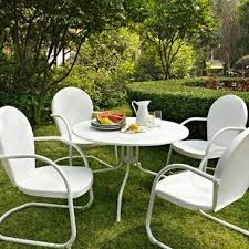 white outdoor table and chairs white patio dining sets you ll love wayfair