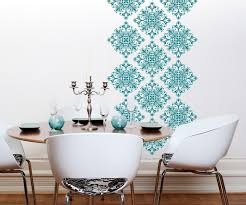Vinyl Wall Decals Scroll Damask Wall Pattern  Graphics With - Design wall decal
