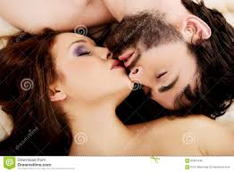 Kiss In Bed Relaxed Young Couple Kissing In Bed Stock Photo Image 65954190