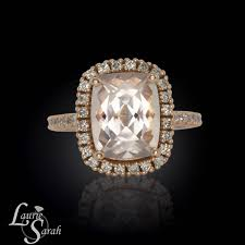 rectangle cushion cut engagement rings 3 carat rectangle cushion cut morganite engagement ring ls3354