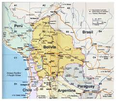 Map Of The South America by Map Of Bolivia Bolivia South America Mapsland Maps Of The