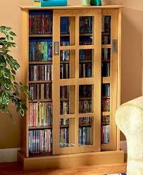 Cd And Dvd Storage Cabinet With Doors Oak Finish Wooden Blu Ray Dvd Cd Storage Cabinet Rack Shelf Glass Door
