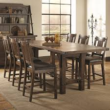 coaster padima 6pc counter height dining table set distressed