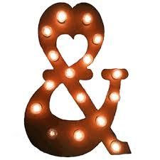 lighted letters u0026 symbols